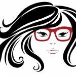 123RF tekening vrouwenhoofd met bril