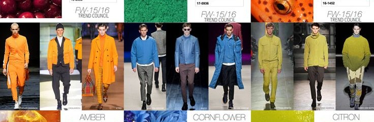 Trendkleuren herfst winter 2015-2016 man