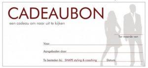 Cadeaubon SHAPE